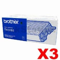 3 x Genuine Brother TN-3185 Toner Cartridge - 7,000 pages