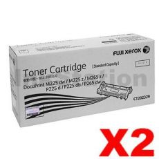 2 x Fuji Xerox DocuPrint M225,M265,P225,P265 Genuine Black Toner Cartridge(CT202329) - 1,200 pages