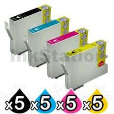 20 Pack Epson Compatible 73N Series Ink Combo [T0731- T0734] [5BK,5C,5M,5Y]