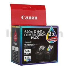 Canon PG-640XL CL-641XL Twin Pack Genuine High Yield Ink Cartridge [PG640XLCL641XL] [1BK + 1CL]
