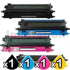 4-Pack Brother TN-240 Compatible Toner Combo [1BK,1C,1M,1Y]