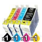 4-Pack Epson 103 T1031-T1034 Compatible High Yield Ink Cartridges [1BK,1C,1M,1Y]