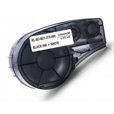 Compatible Brady M21-375-499 Black on White Nylon Label Tape 9.5mm x 4.9m