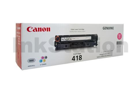 Genuine Canon CART-418M Magenta Toner Cartridge - 2,900 pages