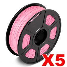 5 x ABS 3D Filament 1.75mm Pink - 1KG