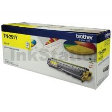 Brother TN-251Y Genuine Yellow Toner Cartridge - 1,400 pages