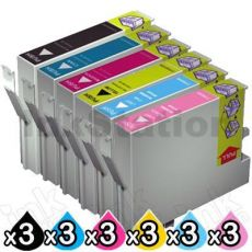18 Pack Compatible Epson 81N Series Ink Combo (3 sets) [3BK,3C,3M,3Y,3LC,3LM]