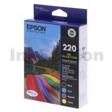 Epson 220 Genuine Ink Value Pack [C13T293692] [BK,C,M,Y]