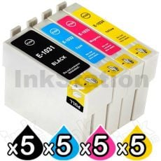 20-Pack Epson 103 T1031-T1034 Compatible High Yield Ink Cartridges [5BK,5C,5M,5Y]