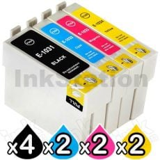 10-Pack Epson 103 T1031-T1034 Compatible High Yield Ink Cartridges [4BK,2C,2M,2Y]