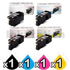 4 Pack Genuine Fuji Xerox DocuPrint CP105 CP205 CM205 CM215 CP215 Toner Cartridges(CT201591-CT201594)