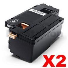 2 x Compatible Fuji Xerox DocuPrint CP105 CP205 CM205 CM215 CP215 Black Toner Cartridge (CT201591) - 2,000 pages