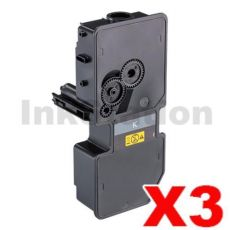 3 x Non-Genuine alternative for TK-5234K Black Toner Cartridge suitable for Kyocera Ecosys M5521, P5021 - 2,600 pages