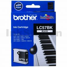 Genuine Brother LC-57BK Black Ink Cartridge - 500 pages