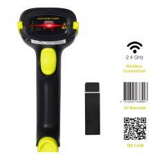 2D Bluetooth Wireless Barcode QR Code Scanner IS-5700DB (Yellow)