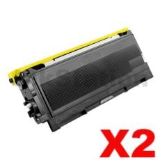 2 x Brother TN-2025 Black Compatible Toner Cartridge - 2,500 pages