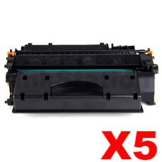 5 x Canon CART-319II Black High Yield Compatible Toner Cartridge - 6,400 pages