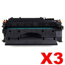 3 x Canon CART-319II Black High Yield Compatible Toner Cartridge - 6,400 pages