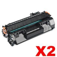 2 x Canon CART-319 Black Compatible Toner Cartridge - 2,100 pages