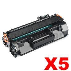 5 x Canon CART-319 Black Compatible Toner Cartridge - 2,100 pages