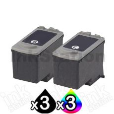 6 pack Canon PG-40 CL-41 Compatible Combo Pack [3BK,3C]