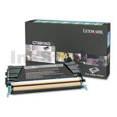 Lexmark (C736H1KG) Genuine C736 / X736 / X738 Black High Yield Toner Cartridge - 12,000 pages