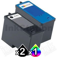 3 Pack Dell 922 924 942 962 964 944 (M4640 + M4646) Compatible Ink Combo [2BK,1C]