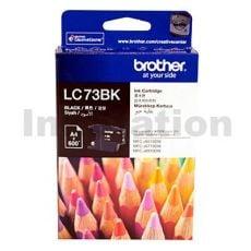 Genuine Brother LC-73BK Black Ink Cartridge - 600 pages