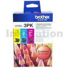 Genuine Brother LC-73CL3PK Colour Pack [C+M+Y] - 600 Pages each