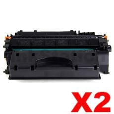 2 x Canon CART-319II Black High Yield Compatible Toner Cartridge - 6,400 pages