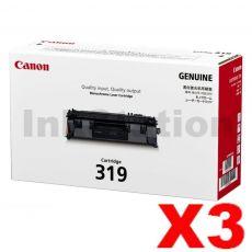 3 x Canon CART-319 Black Genuine Laser Toner Cartridge 2,100 pages
