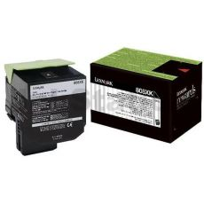 1 x Lexmark (80C8XK0) Genuine CX510 Black Extra High Yield Toner Cartridge - 8,000 pages