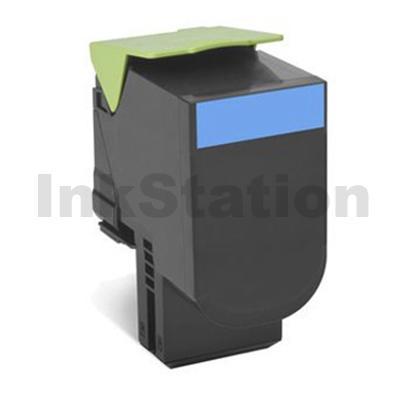 1 x Lexmark (80C8SC0) Compatible CX310 / CX410 / CX510 Cyan Standard Toner Cartridge - 2,000 pages