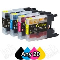 Any 20 Brother LC73/LC77XL Compatible High Yield Ink Cartridge