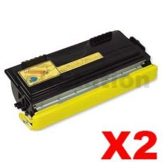 2 x Brother TN-6600 Black Compatible Toner Cartridge 6,000 pages