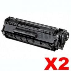 2 x Canon FX-9 Black Compatible Toner Cartridge - 2,000 pages