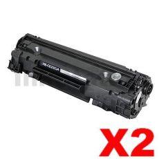 2 x HP CE285A (85A) Compatible Black Toner Cartridge - 1,600 Pages