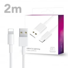 USB Type-A To Lightning Charging Cable for iPhone /iPad / iPod (2m)