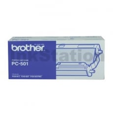 Brother PC-501 Genuine A single, Pre-loaded, Thermal Printing Ribbon, Frame & Gears