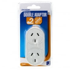 Jackson 2 Outlet Adaptor Vertical Design with Surge Protection PT6400 - White