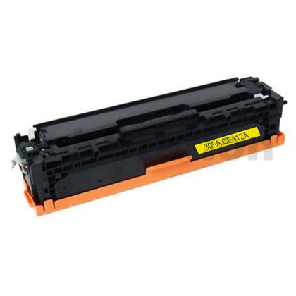 HP CE412A (305A) Compatible Yellow Toner Cartridge - 2,600 Pages