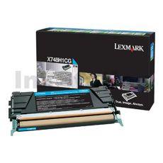 Lexmark (X748H1CG) Genuine X746/X748 HY Cyan Toner - 10,000 pages