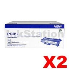 2 x Genuine Brother TN-3310 Toner Cartridge - 3,000 pages