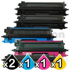 5-Pack Brother TN-240  Compatible Toner Combo [2BK,1C,1M,1Y]