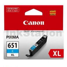 Canon CLI-651XLC Genuine Cyan High Yield Inkjet Cartridge