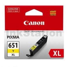 Canon CLI-651XLY Genuine Yellow High Yield Inkjet Cartridge