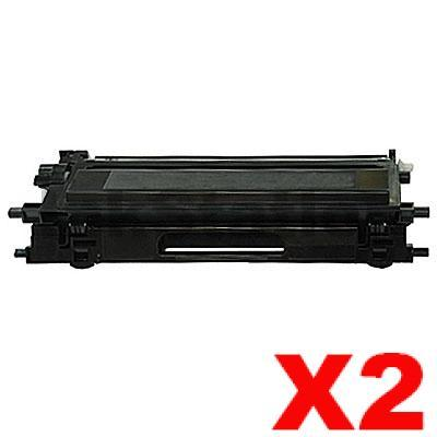 2 x Brother TN-240BK Compatible Black Toner Cartridge - 2,200 pages