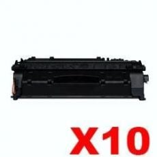 10 x Canon CART-319II Black High Yield Compatible Toner Cartridge - 6,400 pages