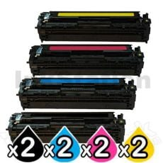 2 sets of 4 Pack Compatible Canon CART-418 Toner Cartridges [2BK,2C,2M,2Y]