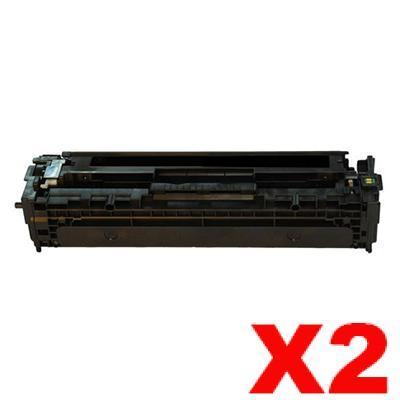 2 x Compatible Canon CART-418BK Black Toner Cartridge - 3,400 pages
